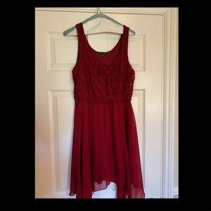 As U Wish Maroon Dress